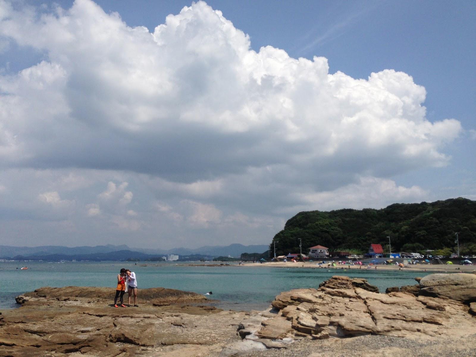 白浜の海水浴場